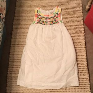 Jcrew white and multicolored floral dress.